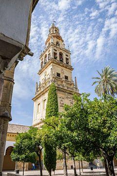 De klokkentoren van de Mezquita in Cordoba. van Fotografiecor .nl