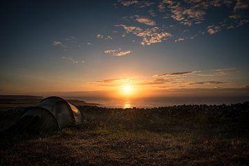 Camping sauvage aux Açores sur Felix Kammerlander