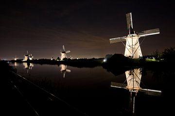 Verlichte molens Kinderdijk van Remco Swiers