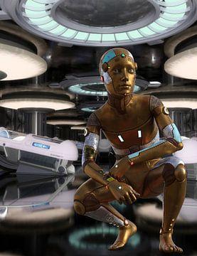 Robot Boy in space vessel A van H.m. Soetens