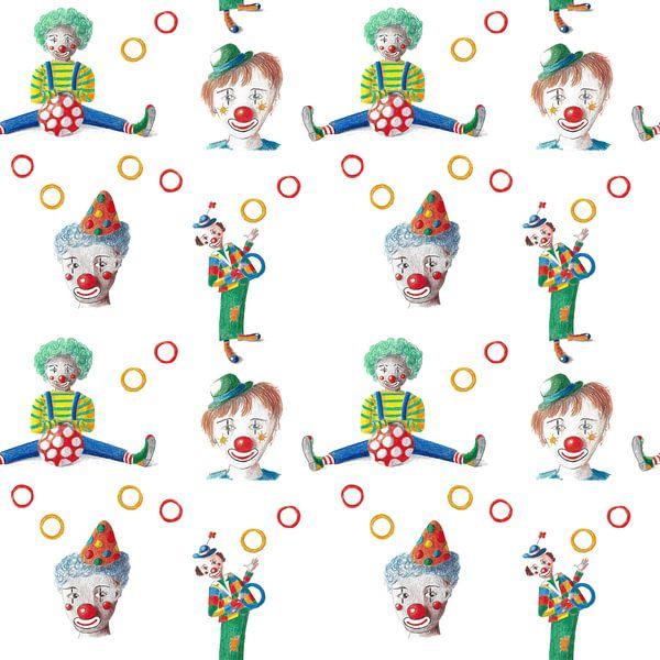 Des clowns joyeux au motif continu sur Ivonne Wierink