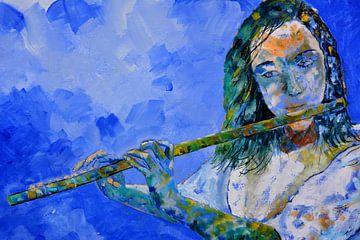 Fluit spelen van pol ledent