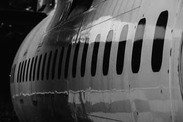 zijaanzicht van een vliegtuig van Eugenlens