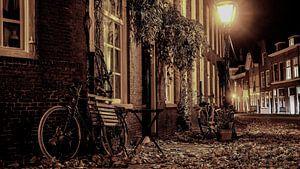 Leiden in de avond van Evert Middelbeek