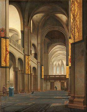 Das Kirchenschiff und der Chor der Mariakerk in Utrecht, Pieter Jansz. Saenredam, 1641