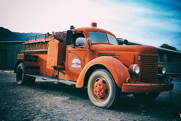 Death Valley Firetruck von Rene van Heerdt