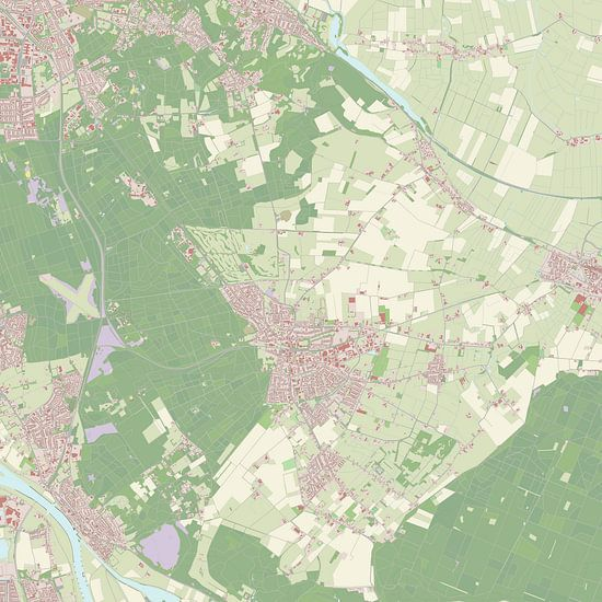 Kaart vanGroesbeek