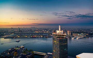 Skyline Amsterdam van Martijn Kort