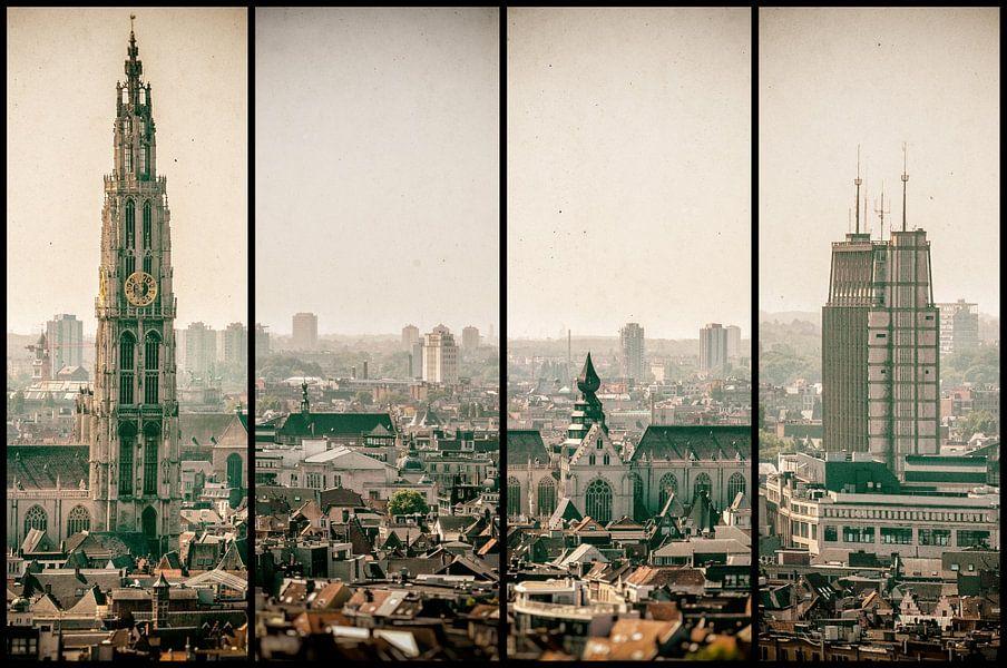 Antwerpen stadsgezicht vierluik