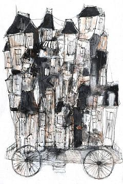 kleine-stad-vervoer van Christin Lamade