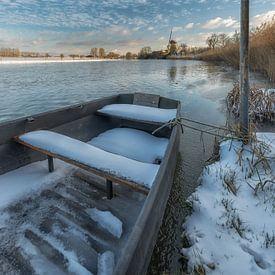 Molen de Vrijheid in de winter bij Marienwaerdt van Moetwil en van Dijk - Fotografie