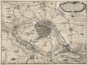 Ancienne carte de Maastricht datant d'environ 1632