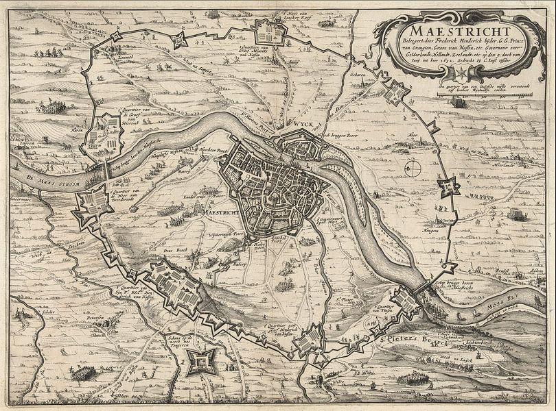 Ancienne carte de Maastricht datant d'environ 1632 sur Gert Hilbink
