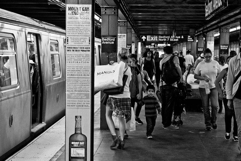 New York, Brooklyn, Subway Bedford van Ton deZwart