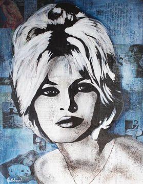 "Brigitte Bardot ""La Madrague"" van Kathleen Artist Fine Art"