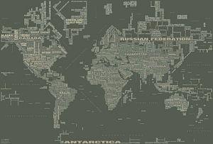 Carte Typographique Mondiale, Kaki