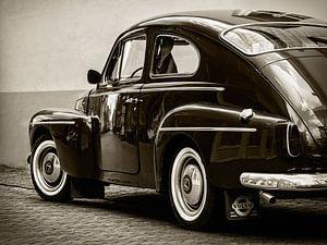 De oude Volvo Katterug zwartwit