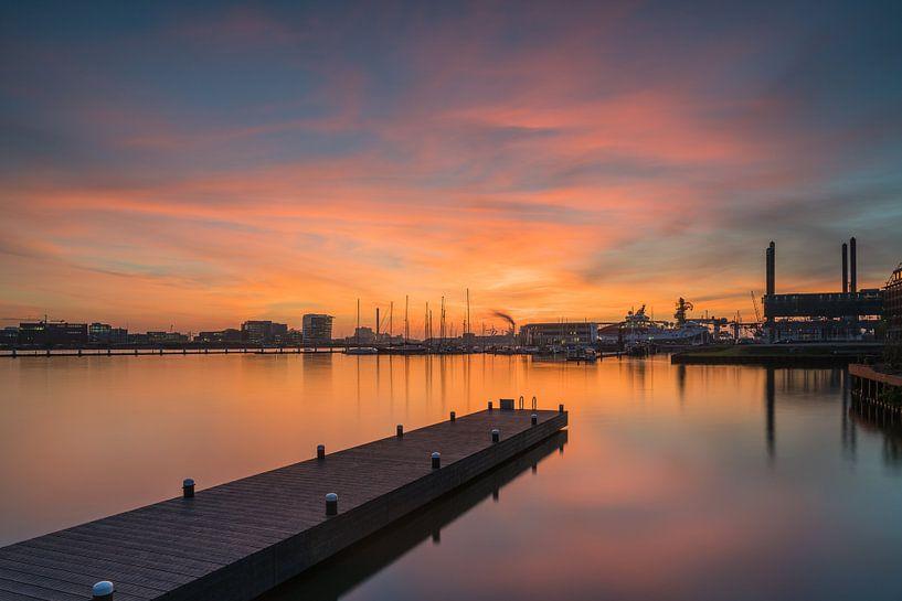 NDSM zonsondergang van Jeroen de Jongh