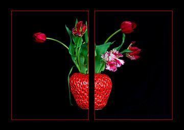 Tulpen und Erdbeeren von Jeannette Kliebisch