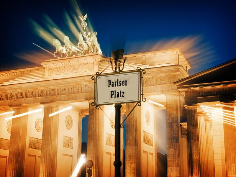 Berlin – Brandenburg Gate / Pariser Platz van Alexander Voss
