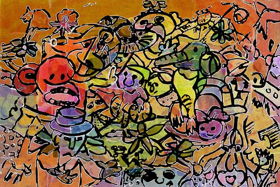 Kleurrijk dagje uit van Henk van Os