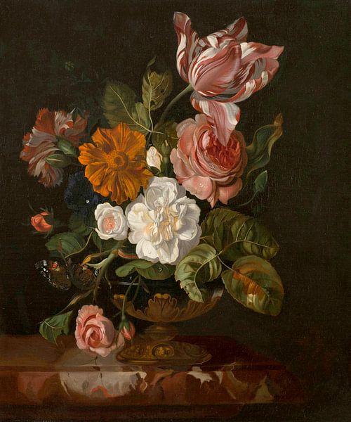 Blumen in einer Vase, Rachel Ruysch von Meesterlijcke Meesters