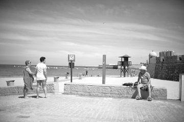 Strand scene in Zuid Spanje van Rob van Dam
