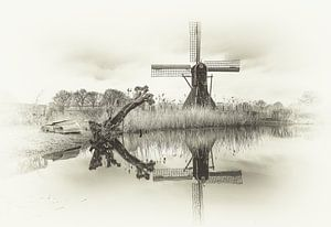 Molen in Laag Keppel van Willem  Bentink