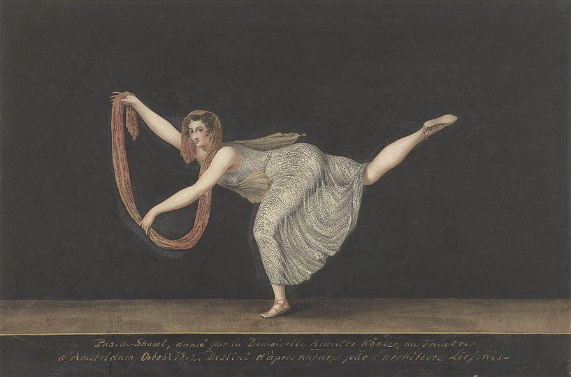 Tänzerin Annette Köbler, die Pas-de-Schal-Darstellerin, Bartholomäus Ziesenis von Marieke de Koning