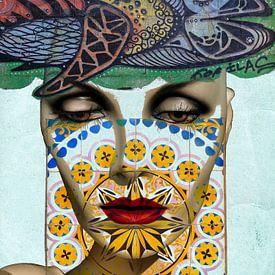 The face, the fish and the azulejos von Gabi Hampe