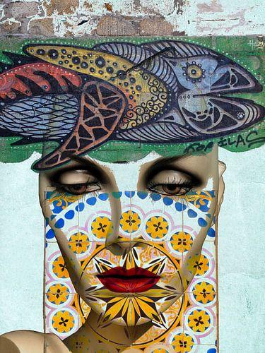 The face, the fish and the azulejos van Gabi Hampe