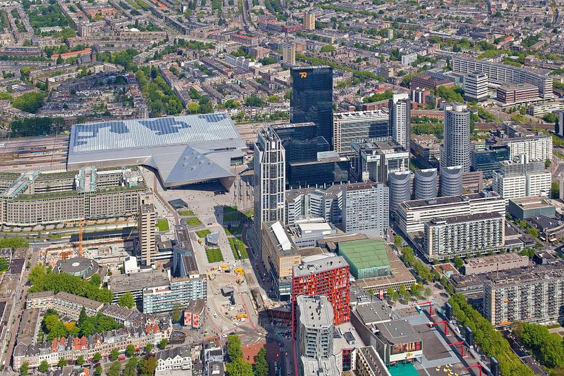 Luchtfoto Rotterdam Central District van Anton de Zeeuw