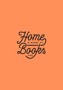 home is where my books are (red)