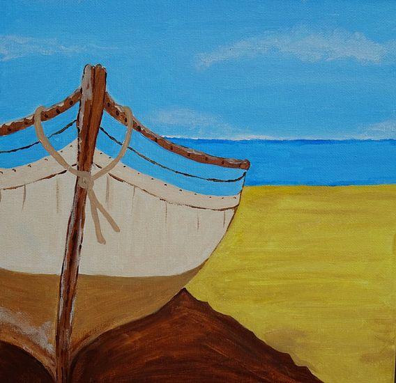 Deserted Beach van Anja  Bulté