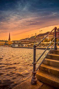 Duitsland, Hamburg, stadscentrum, Alster, Binnenalster van Ingo Boelter
