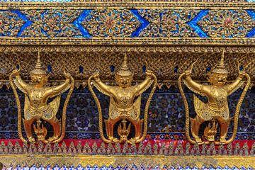 Garuda's in Wat Phra Kaew, Bangkok van