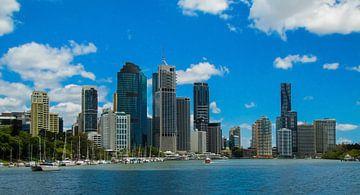 Skyline van Brisbane, Australie van
