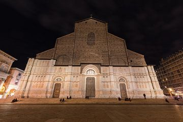 Basiliek van San Petronio in centrum van Bologna van Joost Adriaanse