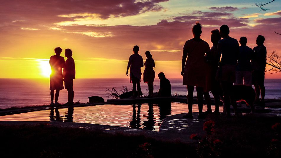 Infinity pool party