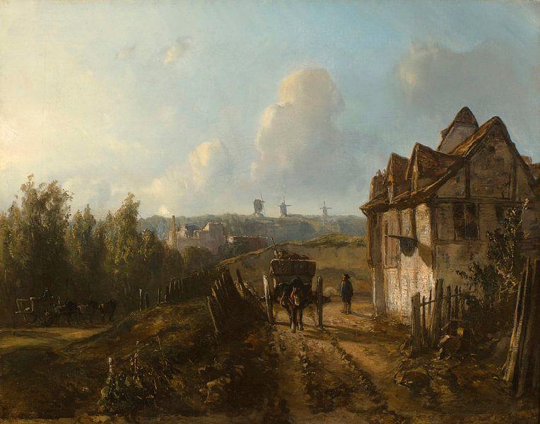 Blick auf Monmartre, Johan Barthold Jongkind von Meesterlijcke Meesters