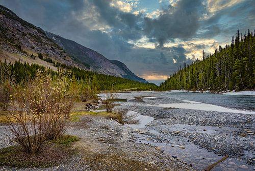 Rivier langs de Icefields Parkway, Canada