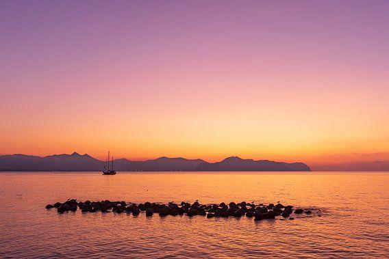 Magische zonsondergang in Sicilië