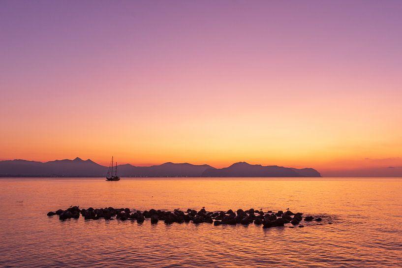 Magische zonsondergang in Sicilië van Fabrizio Micciche