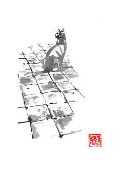 Katze auf der Terrasse von philippe imbert