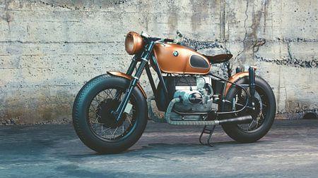 Klassieke BMW motorfiets