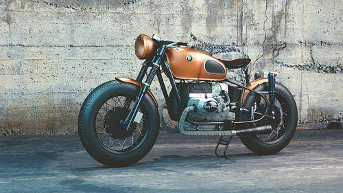 Klassieke BMW motorfiets van Ronald George