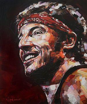 Bruce Springsteen peinture sur Jos Hoppenbrouwers