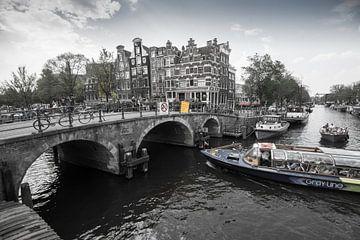 Canal view Amsterdam,  The Netherlands van Roland de Zeeuw fotografie