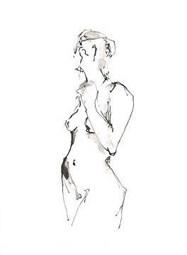 Staand naakt van Desiree Meulemans