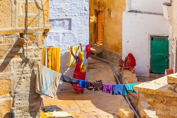 Wäscherinnen in Rajasthan von Jan Schuler